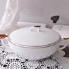 White gold sugar pot