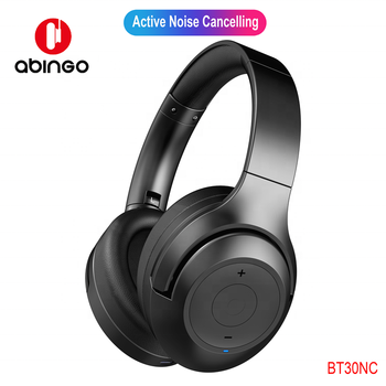 abingo Professional Active Noise Cancel Bluetooth Headphone New Wireless Stereo Portable Over-Ear Headset