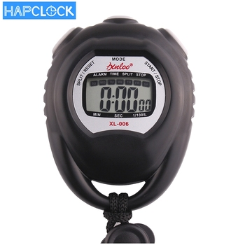 hapclock multifunctional alarm stopwatch sports leap digital stopwatch with timer
