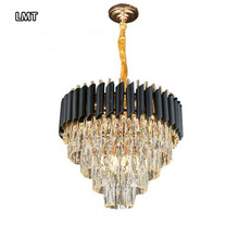 <strong>China</strong> price gold led pendant <strong>lights</strong> wrought iron art luxury villa restaurant modern crystal chandelier lighting