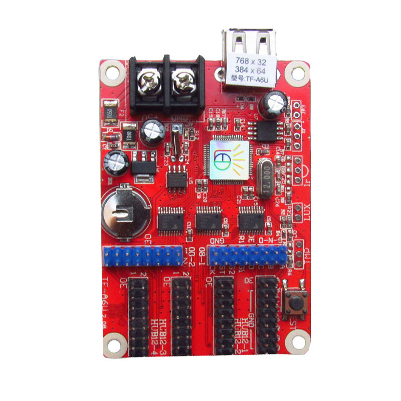 <strong>P10</strong> LED electronic board with power led control card TF-A6U led display
