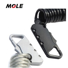 Mole Mole Hot selling Bike Lock Cable Portable Mini Lock Security 3 Digit Bicycle <strong>Equipment</strong>