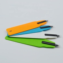 Popular cheap price custom logo <strong>flat</strong> bookmark ball pen for different vivid designs