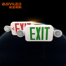 Double Sided Illuminated Self Test Emergency Australia Exit Sign <strong>W</strong>/Emergency Light Red