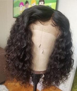Brazilian human hair full lace front wig Virgin Black short afro kinky curly wig for black women,real curly hair wig human hair