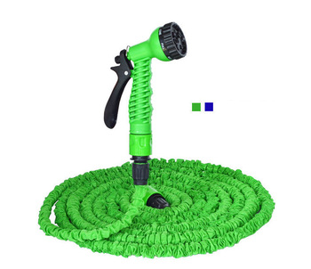 50FT(5/15M ) garden Hose With Plastic Connectors and seven Spray Patterns garden tooling