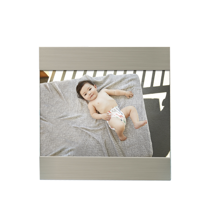 Fashion <strong>A0</strong> A1 A2 A3 A4 brushed silver aluminum photo <strong>frame</strong> baby photo <strong>frame</strong>