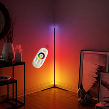 LED indoor modern RGB wall corner floor lamp APP with remote music control night <strong>light</strong> for home bedroom decoration