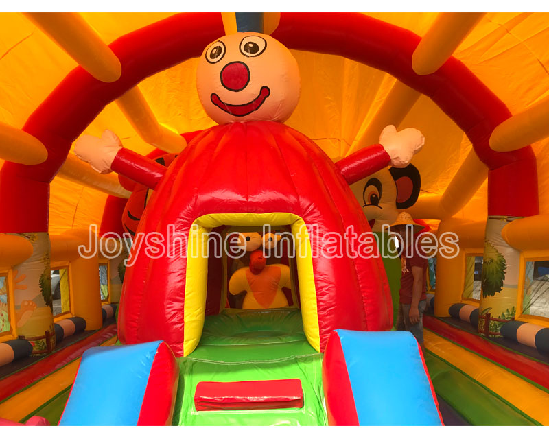 Sunshade Roof Inflatable Bouncy Jumping Castles Cheap Kids Children Fun City Playground Inflatable Tent Castle In Stock
