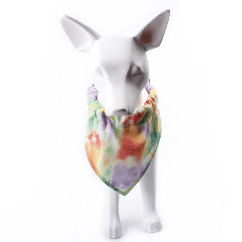 Cheap custom fashion label pet bandana cat kerchief set with collar for dogs