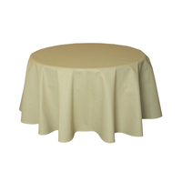 Round textile tablecloth