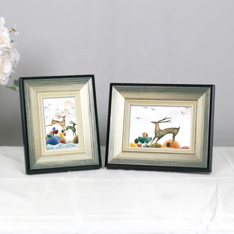 4x6//5x7//8x10 A4 Black Wooden Baby Photo Frame Family Wall Picture