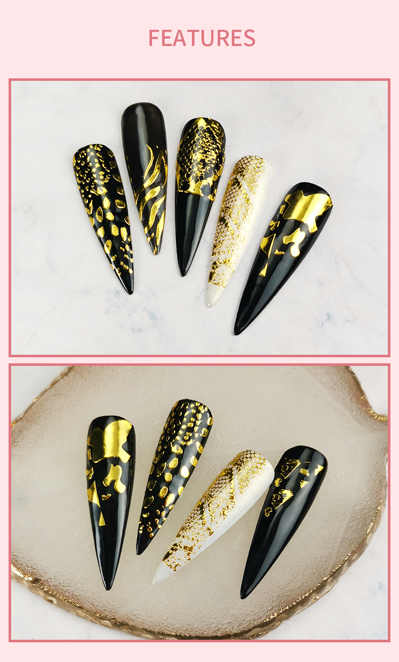 3D metallic nail decals,China Guangzhou nail art supply,customized nail stickers and nail art stickers