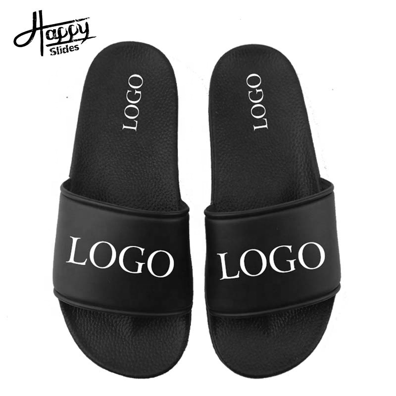 OEM Custom Black Slides Footwear Sandal PVC,Custom Logo <strong>Slippers</strong> Men Plain Blank Slide Sandal,<strong>Slippers</strong> Custom Logo Slide Sandal