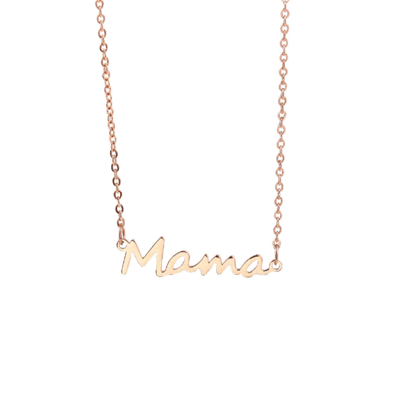 Wholesale Rose Gold Silver Stainless Steel Mother Day Mama Charm Bracelet