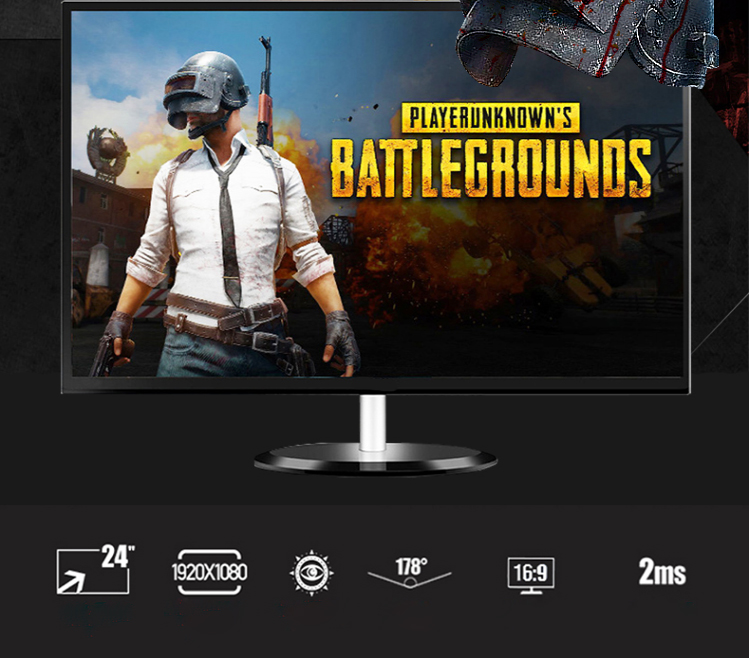 full hd 24 inch 144hz gaming monitor 1080p with HD-MI+DP+AUDIO+DC