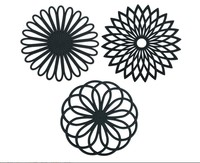 Non Slip Silicone Carved Trivet Mats Set For Dishes Pot Holders- Heat Resistant Coasters-Modern Kitchen Hot Pads For Pots & Pans