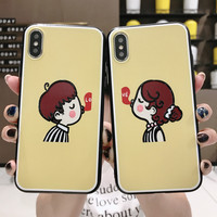 Amazon hot selling products lovers cute mobile phone case custom TPU mobile phone case for iPhone X