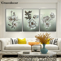 High Quality Modern Artwork Reproduction Art 3D Flower Painting