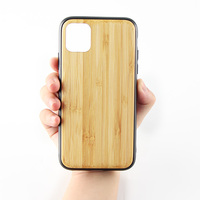 Biodegradable Clear Natural Wooden Cellphone Phone Case For iPhone 6 7 8 11 X XR XS Max