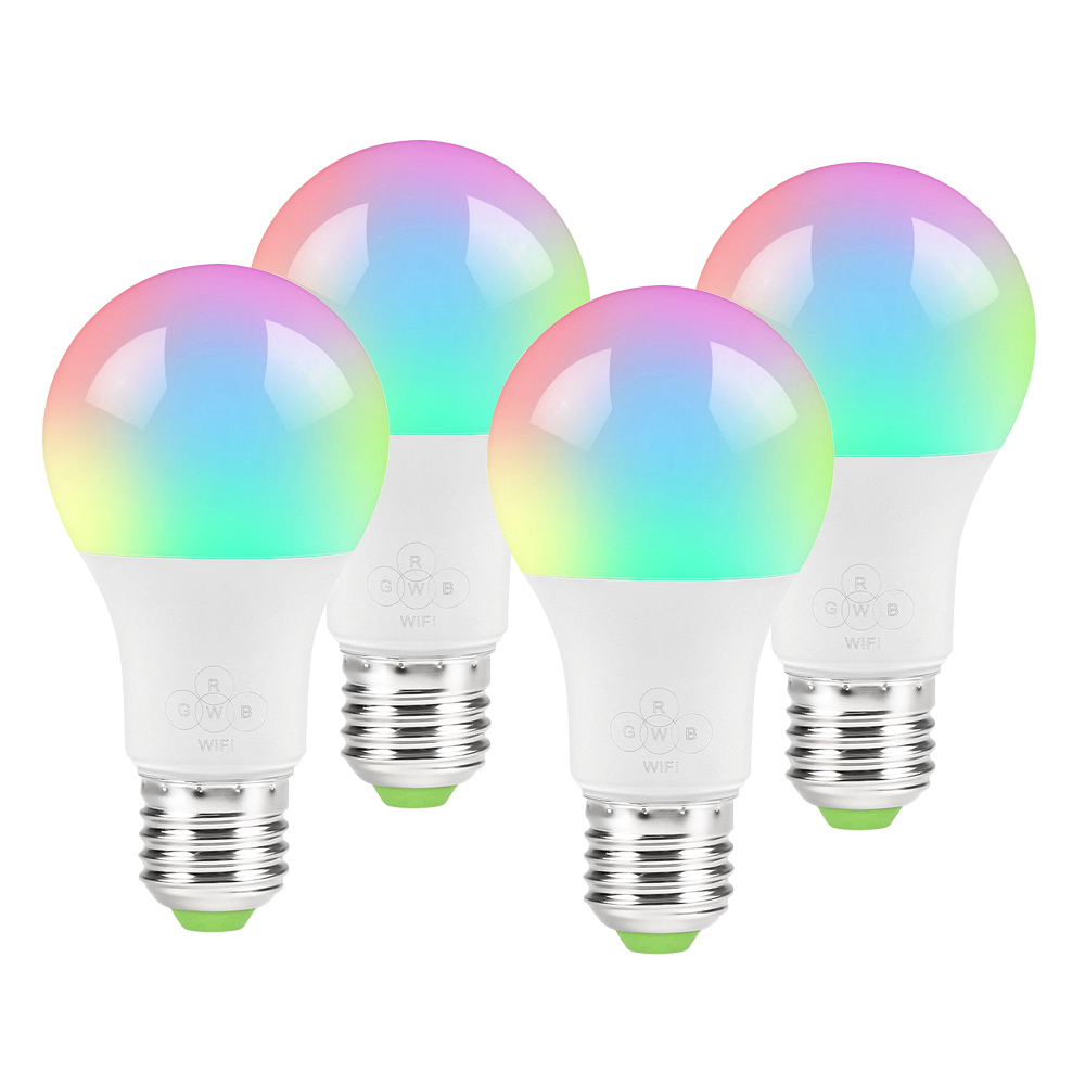 Smart LED Light <strong>E27</strong> 4.5W WiFi Multicolor Light Work with Alexa, Google Home and IFTTT