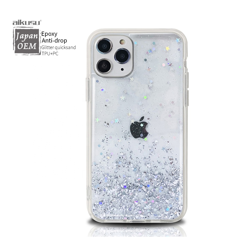 Design your own logo glitter mobile phone case for for iphone 7 11 SE case