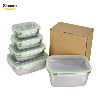Cheap Price Korean Stainless Steel Food Storage Container Kimchi Box 350/550/850/1800/2500ml