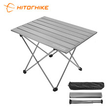 Hitorhike lightweight outdoor folding aluminium <strong>tables</strong> camping picnic <strong>tables</strong> foldable easy to carry
