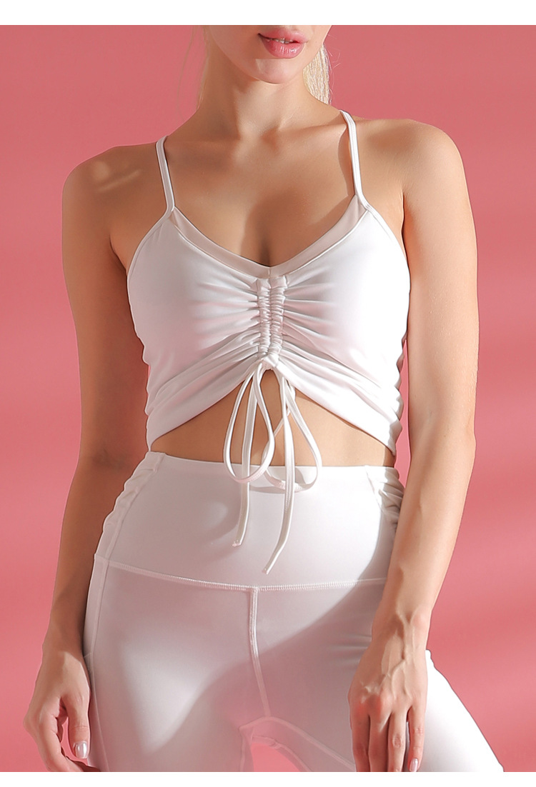 Wholesale OEM Made in China Women Summer Yoga Wear Fitness Bra Custom Brand Breathable Strap Yoga Clothing