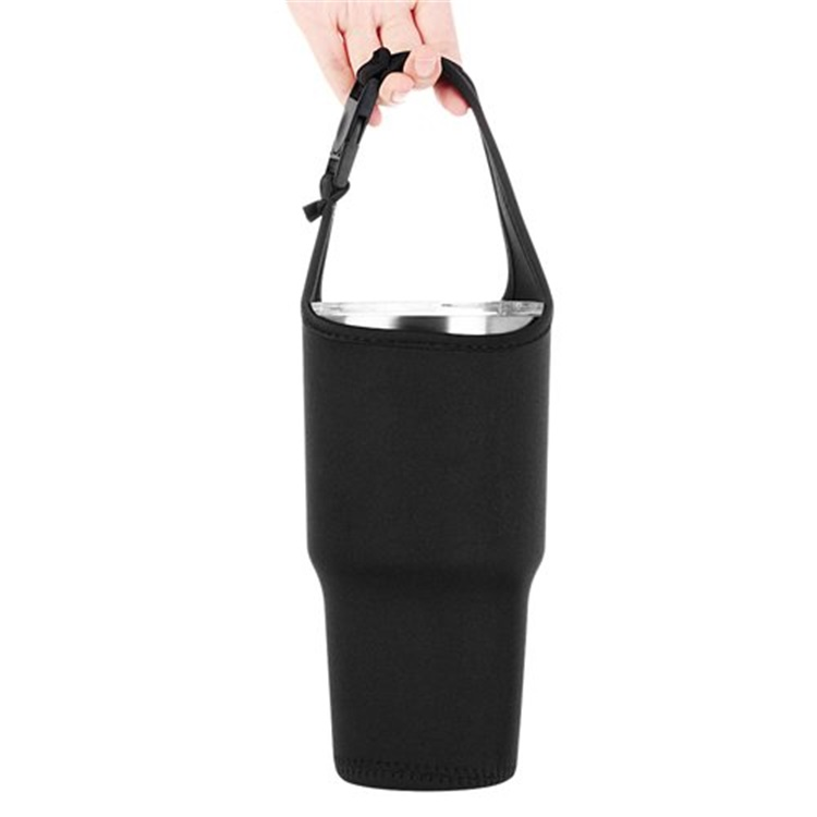 Neoprene Bottle Cup Holder with Carrying Handle Tumbler Water Bottle Sleeve With Handle