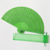 [I AM YOUR FANS] Cheap Hot sale wholesale Dyed painted colorful wood hand fan for wedding favors