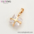34867 Xuping new arrival popular square stone pendant superstar gold plated pendant women jewelry