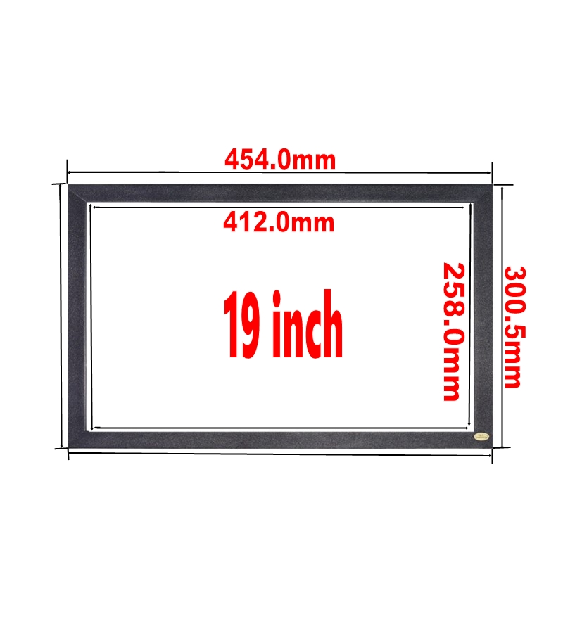 19inch interactive infrared ir diy customized multi touch screen panel overlay screen kit for whiteboard kiosk magic mirror <strong>16</strong>:9