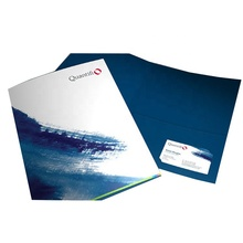 Paper material single pockets free logo design high quality colorful presentation medical record folder