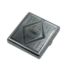 20 stainless steel portable cigarette casesalloy magnetic buckle metal cigarette <strong>case</strong>