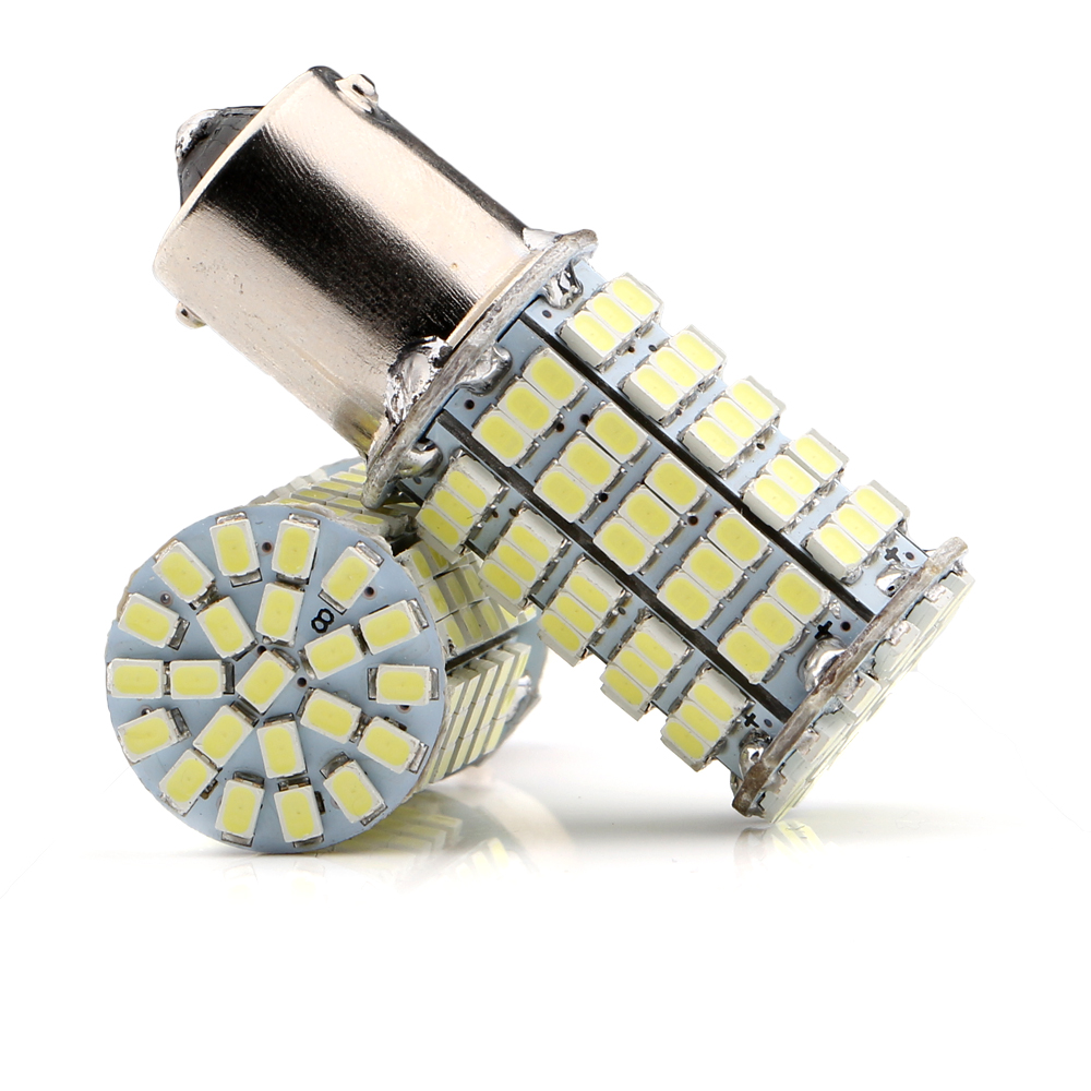 P21W 1156 BA15S 1141 1073 1095 127smd 1206 LED Replacement Bulb For RV Camper Car Turn Tail Signal Brake Backup Light