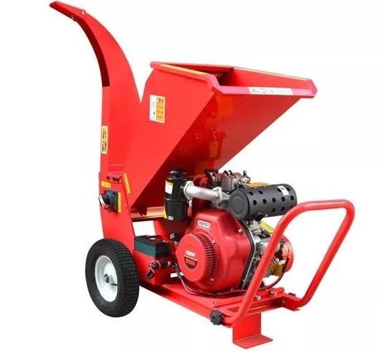 15 HP gasoline wood shredder chipper machine/wood chipper