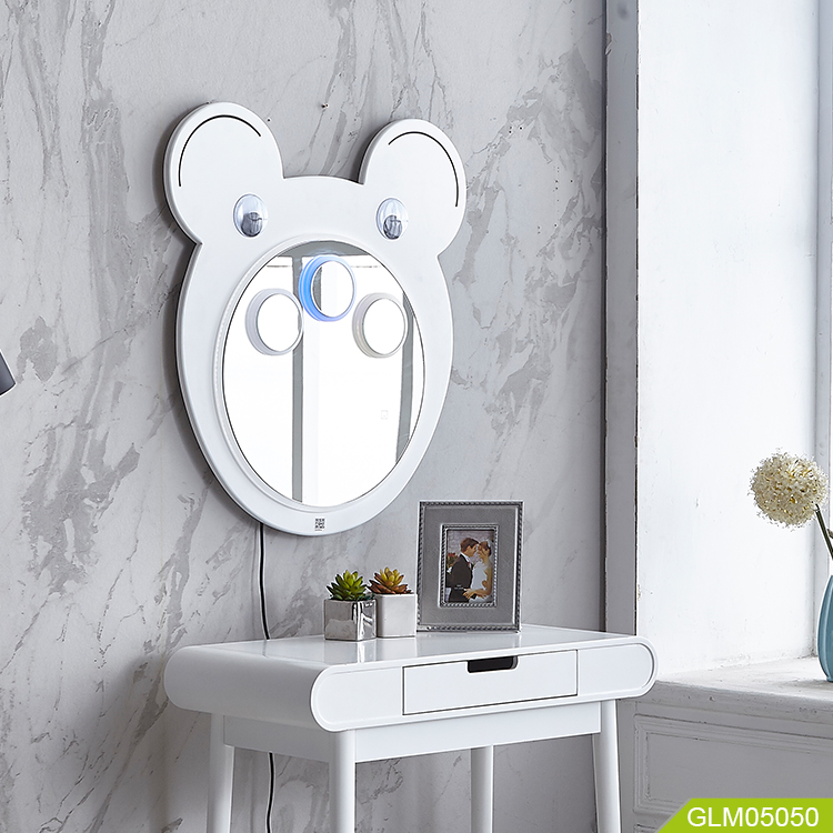 Children wall led mirror with touch switch environmental protection mirror