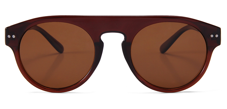 sports dark brown UV400 plastic sunglasses polarized