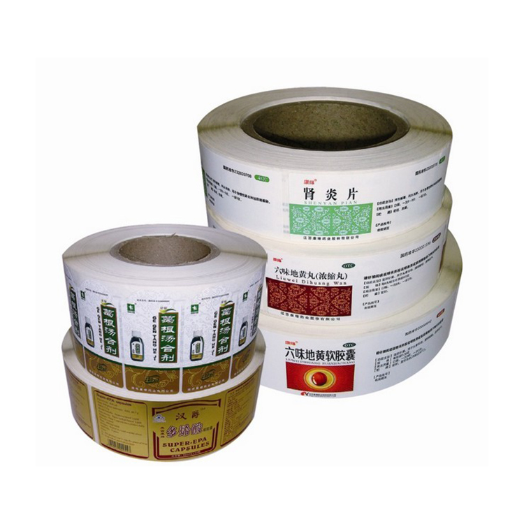 Factory hot sale Color Printing Self permanent adhesive labels