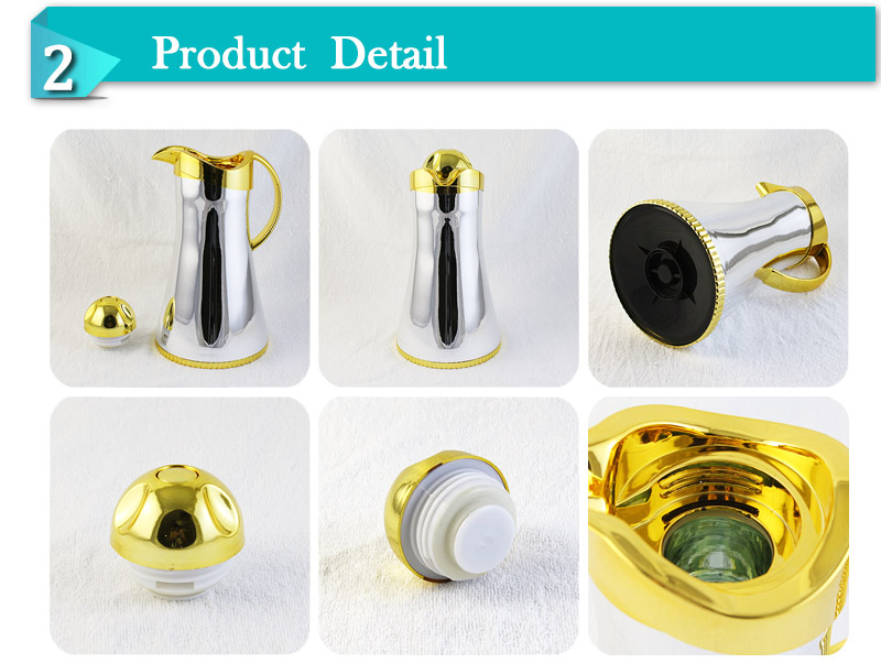 wholesale double wall glass liner Arabian coffee jug tea pot keep hot and cold for 24 hours