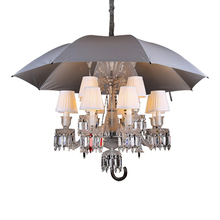 Art Home Decor Luxury Living Room Large Crytal Umbrella LED Pendant Lamp