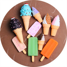 DIY resin simulation cone ice cream mobile phone shell <strong>fridge</strong> sticker jewelry accessories