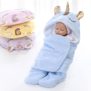 High quality soft flannel warm winter stroller unicorn baby sleeping bags