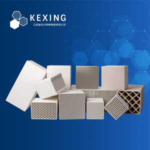 Cordierite honeycomb ceramic heat storage substrate