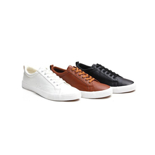 Good Quality Customized 40-46 Size Black White Brown PU Leather Flat Casual Men <strong>Shoes</strong>