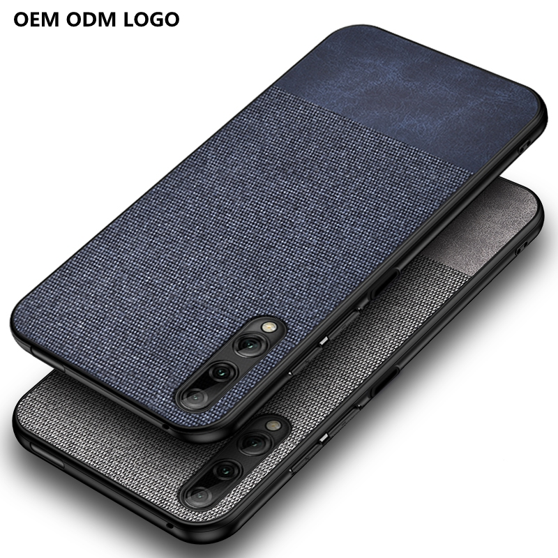 OTAO OEM Mobile Phone Accessories Telefono <strong>Case</strong> For Huawei Honor <strong>10</strong> 20 9 lite 8X Y6 Y7 Splice Cloth Back Cover Phone Coque
