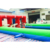 3 lanes race pony hops track inflatable horse racing game