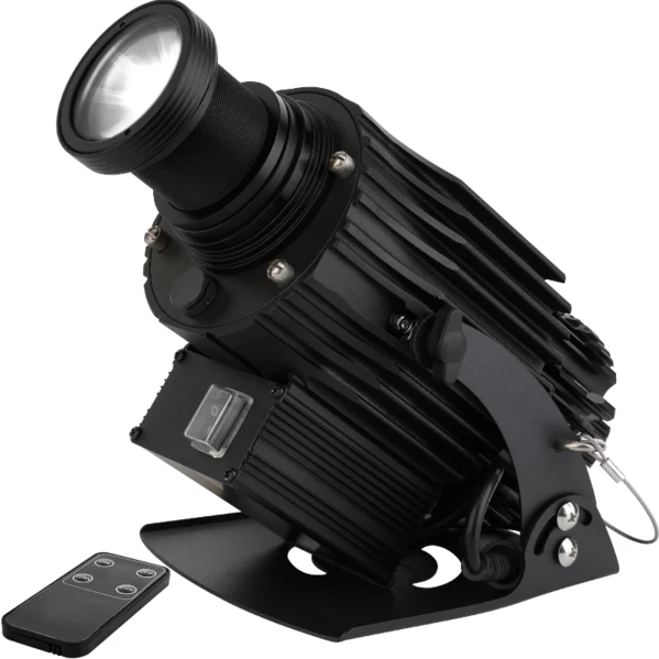 Low moq waterproof 40w three gobo hd on wall logo spotlight projector light with remote control