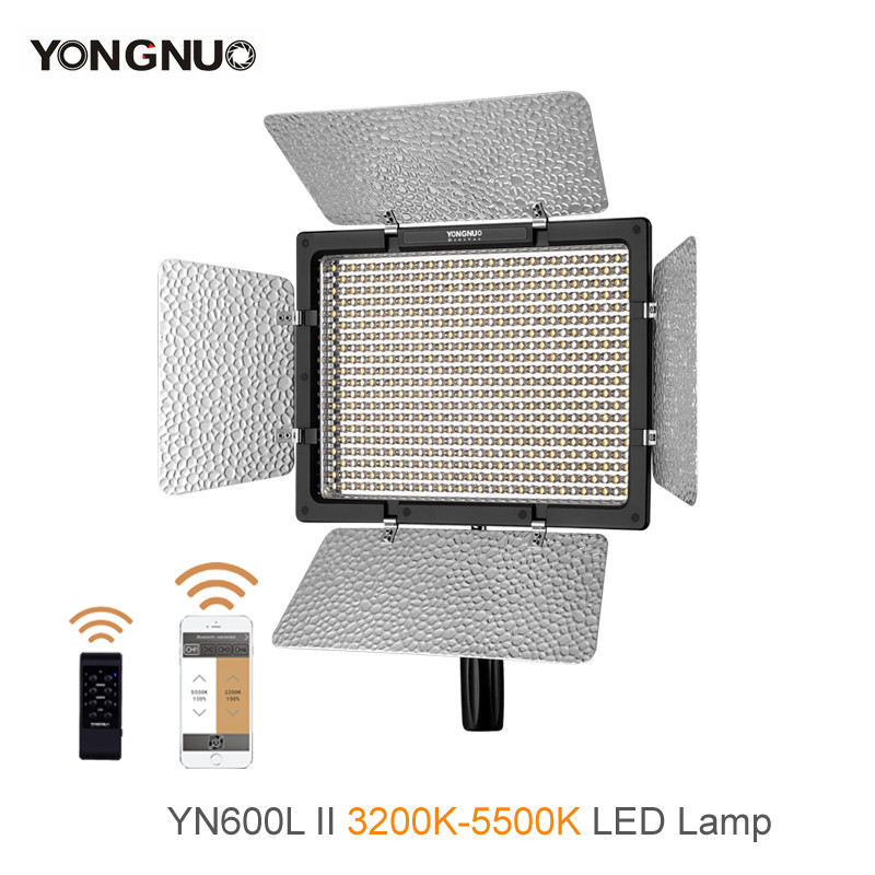 Yongnuo YN 600L II YN600L II 3200K 5500K  BI color LED Video Light LED Light panels Photography Studio Light